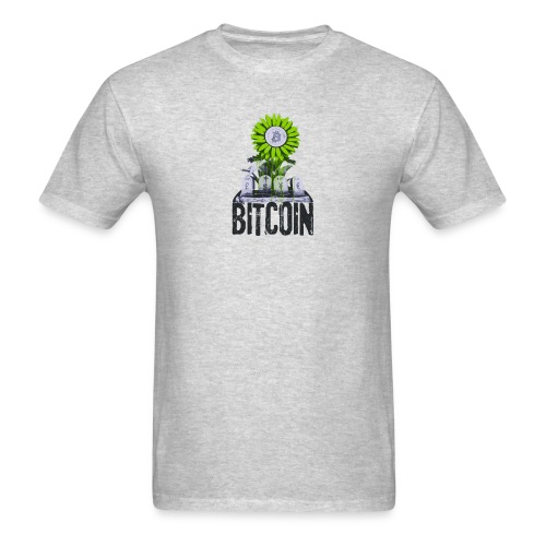 Bitcoin Banksy Street Art Tshirt - Men's T-Shirt