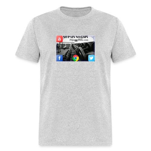 gym no pain no gain 1 - Men's T-Shirt