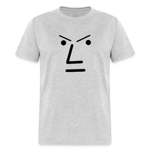 Grey Face Design Angry - Men's T-Shirt