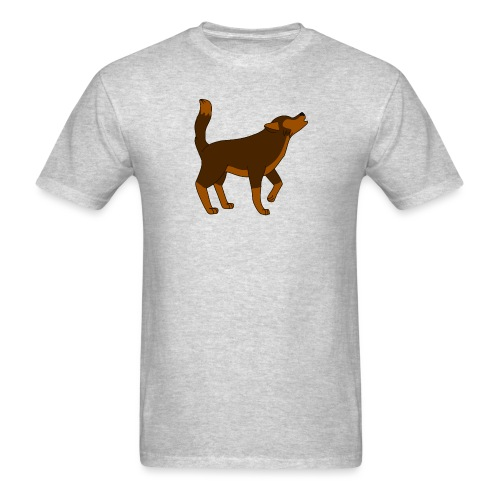 KR ASMR Howling Wolf - Men's T-Shirt
