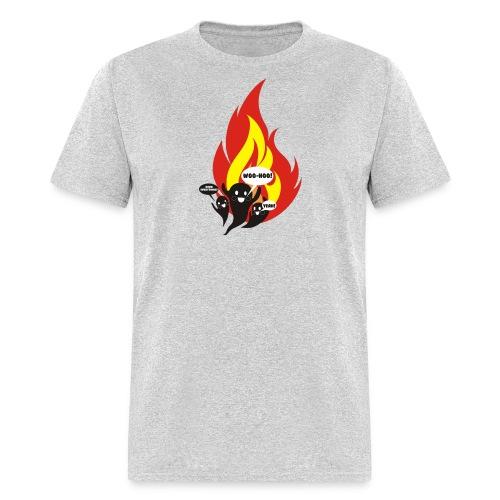 Funny arson ghosts burn everything Halloween - Men's T-Shirt