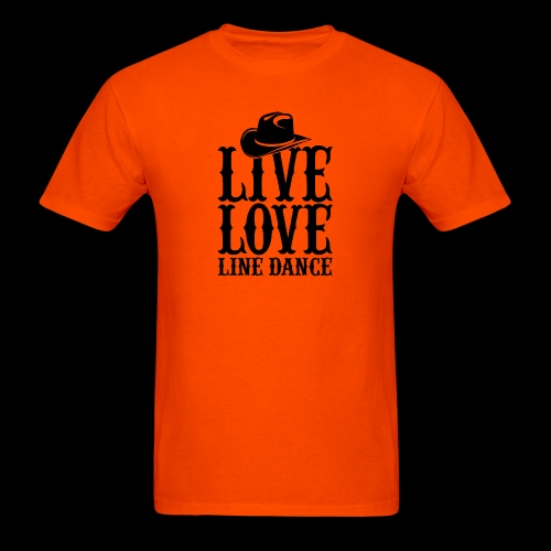 Live Love Line Dancing - Men's T-Shirt