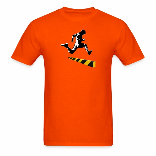 Leaping The Bounds of Caution - Men's T-Shirt
