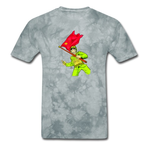Chinese Soldier With Grenade - Men's T-Shirt
