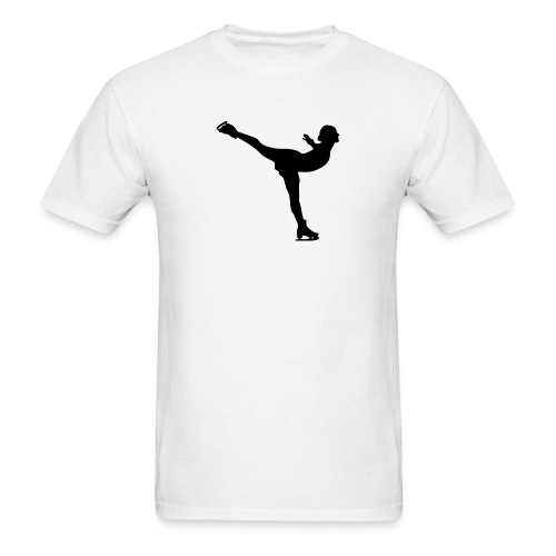 Ice Skating Woman Silhouette - Men's T-Shirt