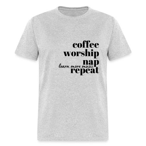 Coffee Worship Nap Tee - Men's T-Shirt