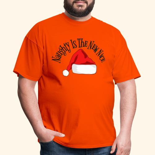 Naughty Is The New Nice Santa Hat Design - Men's T-Shirt