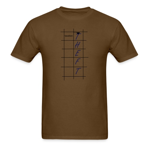 Taxation is Theft Crossword - Men's T-Shirt