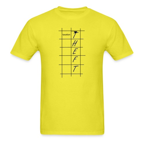 Taxation is Theft Crossword - Men's T-Shirt