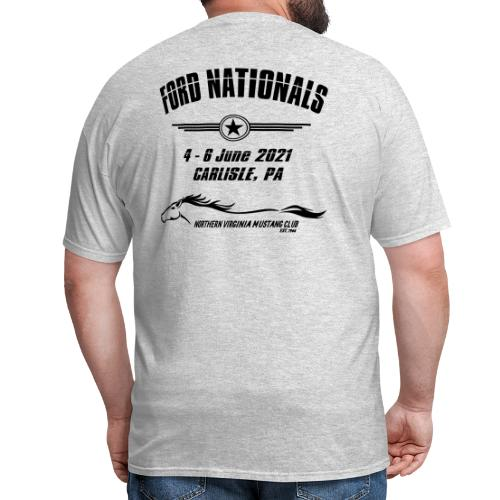 Ford Nationals 2021 with Mustang Flag - Men's T-Shirt