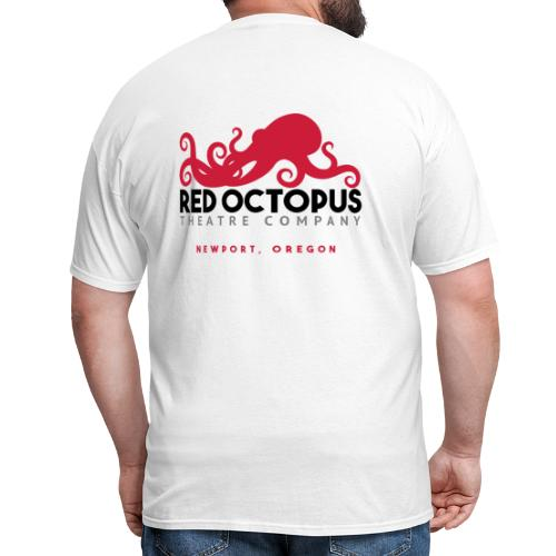 Red Octopus Faster, Funnier, Louder - Men's T-Shirt