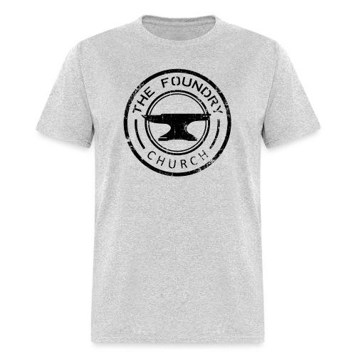 Foundry Church Logo Distressed black 12 in - Men's T-Shirt