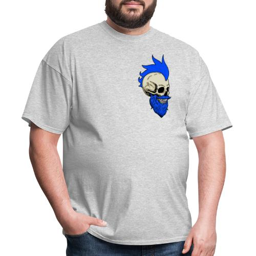 Matty Mohawk Skull Front & Back - Men's T-Shirt
