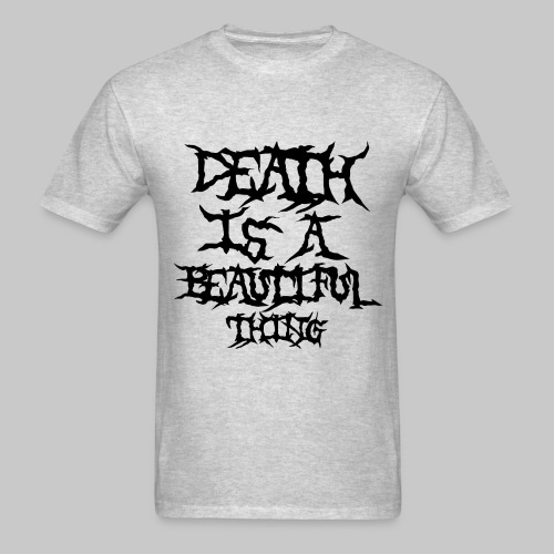 deathisabeautifulthing font - Men's T-Shirt