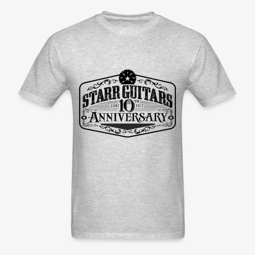 Starr Guitars 10th Anniversary Black Logo - Men's T-Shirt