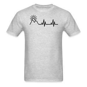 Heartbeat of a Traveler - Men's T-Shirt