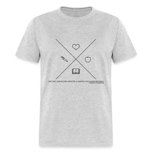 One Book, One Pen Cross Logo - Men's T-Shirt
