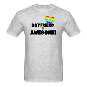 My BoyFriend is Awesome - Men's T-Shirt