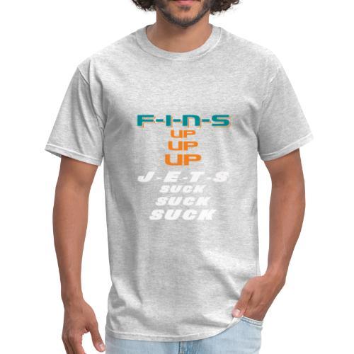 FINS UP JETS SUCK - Men's T-Shirt