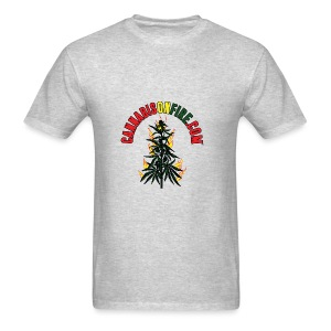Cannabis On Fire T-Shirt 420 Cannabis Wear 2017 - Men's T-Shirt