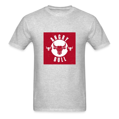 Angry Bull, red angry, grunge - Men's T-Shirt