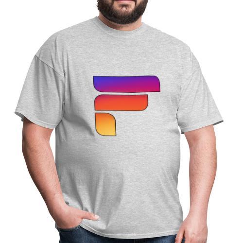 Frosty Rainbow Logo Center - Men's T-Shirt