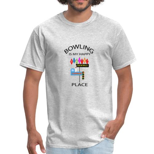 TSHIRTFINDERS- T-SHIRTS -Bowling is My Happy Place - Men's T-Shirt