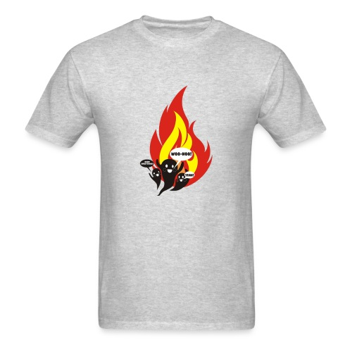 Funny arson ghosts burn everything Halloween - Men's T-Shirt