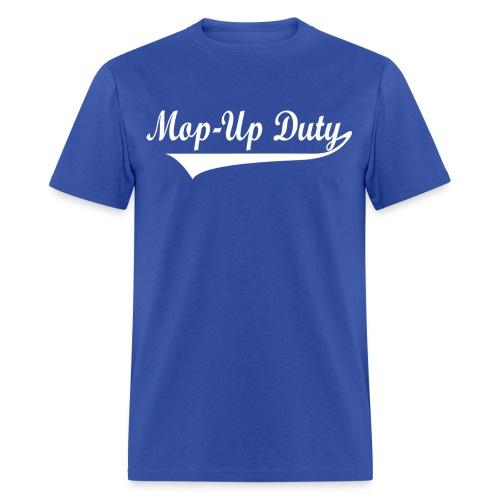 mopupdutylogotextwhitepng - Men's T-Shirt
