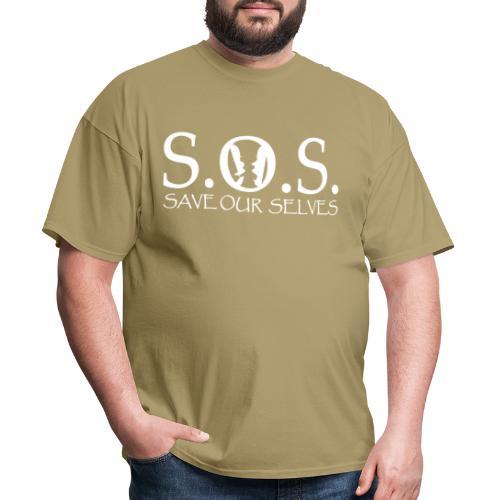 SOS WHITE4 - Men's T-Shirt