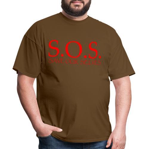 sos no emotion red - Men's T-Shirt