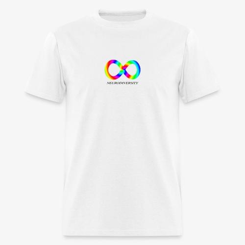 Neurodiversity with Rainbow swirl - Men's T-Shirt