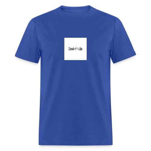 Scrub Life Heartbeat Stethoscope Nursing Vinyl Dec - Men's T-Shirt