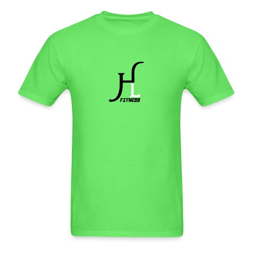 HIIT Life Fitness logo white - Men's T-Shirt