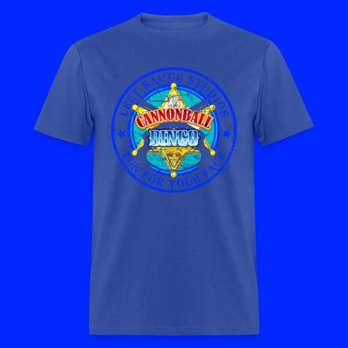 Vintage Cannonball Bingo Badge Blue - Men's T-Shirt