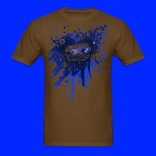 Vintage Cannonball Bingo Drip Blue - Men's T-Shirt