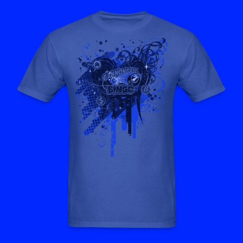 Vintage Cannonball Bingo Drip Blue - Men's T-Shirt