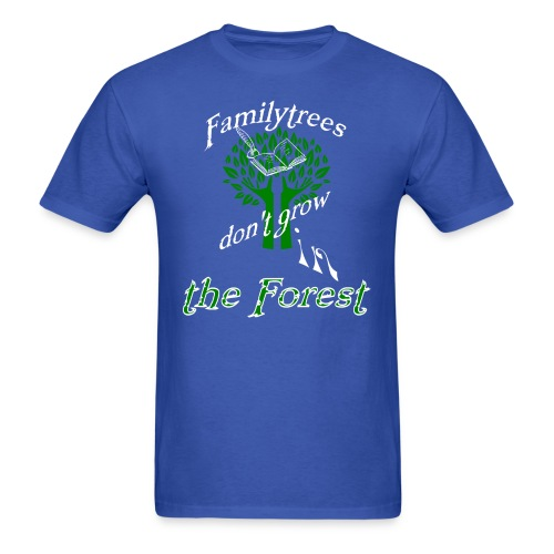 genealogy family tree forest funny birthday gift - Men's T-Shirt