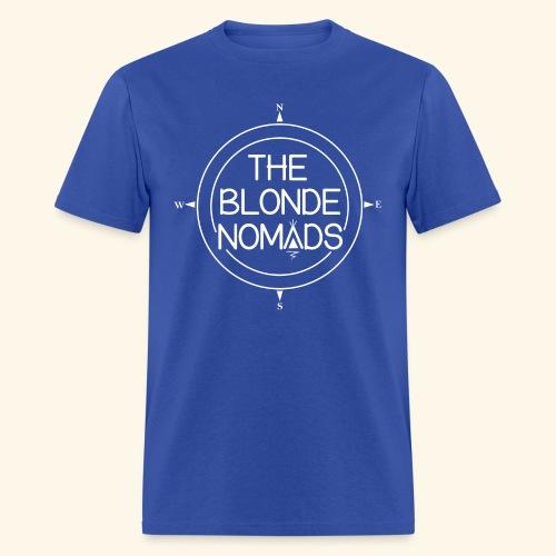 The Blonde Nomads logo WHITE - Men's T-Shirt