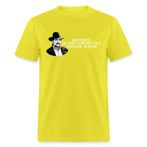 schneier19 cowboy white - Men's T-Shirt