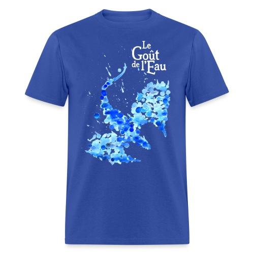 Gouttes de Dragon avec logo en blanc - T-shirt pour hommes