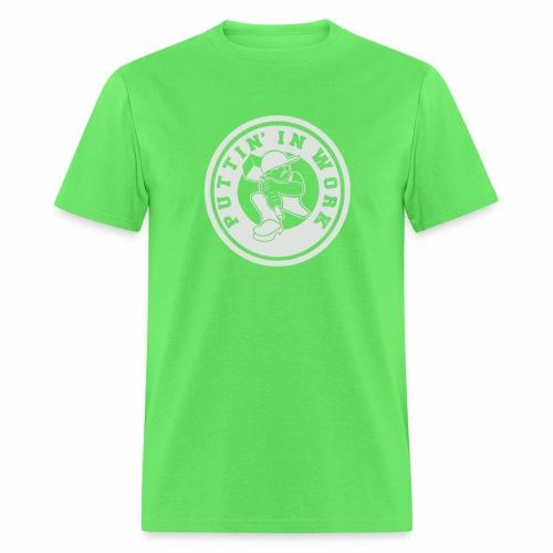 P.I.W White Logo - Men's T-Shirt
