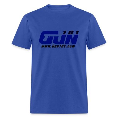 Gun101 T-Shirt w/ Blue Logo - Men's T-Shirt