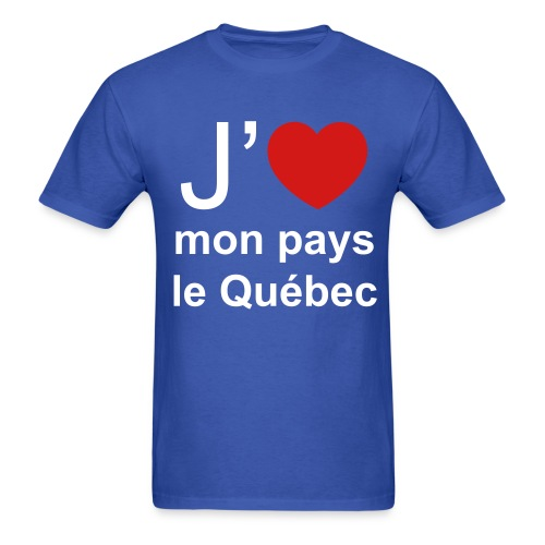 T-Shirt 100% Pro-Québec! - Men's T-Shirt