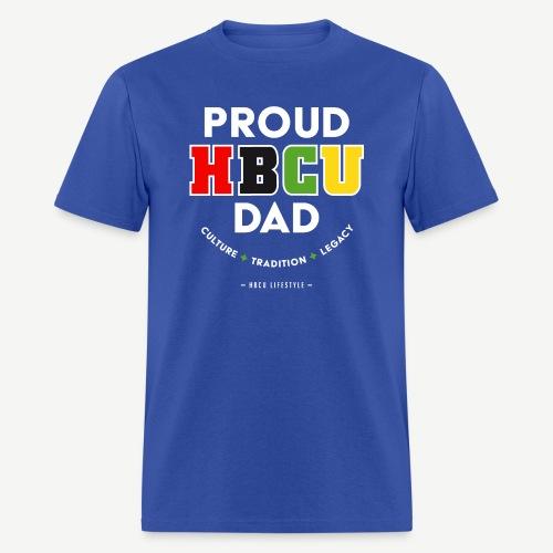 Proud HBCU Dad RGB - Men's T-Shirt