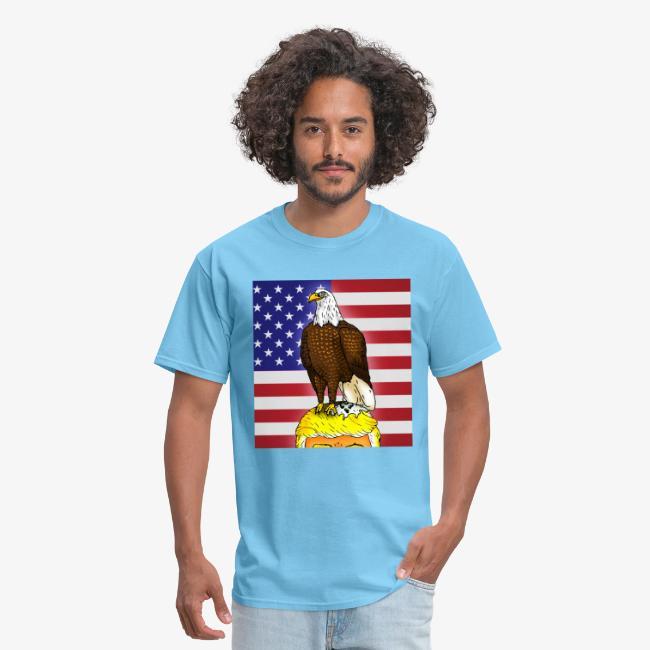 Patriotic Bald Eagle Dumps on Trump