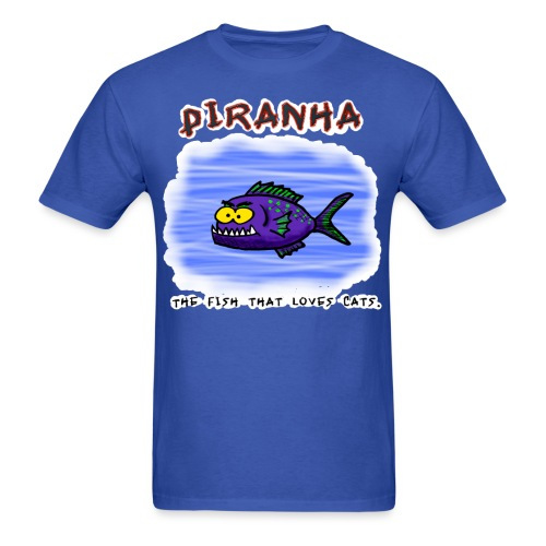 Piranha cartoon - Men's T-Shirt
