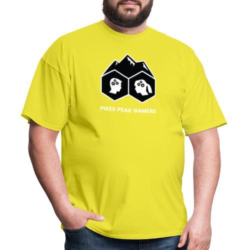 Pikes Peak Gamers Logo (Solid Black) - Men's T-Shirt