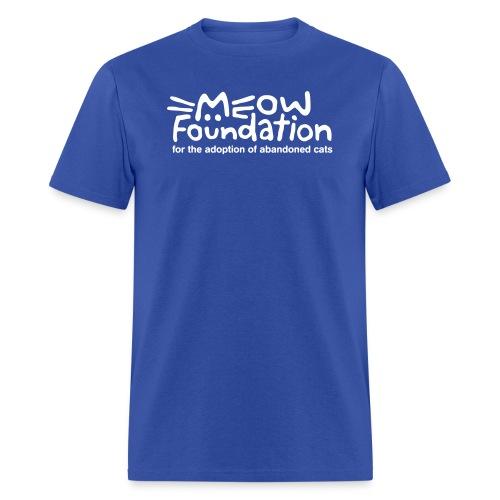 MEOW Foundation White Logo Tagline - Men's T-Shirt