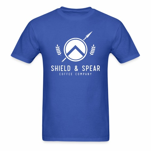 Shield and Spear White Logo - Men's T-Shirt
